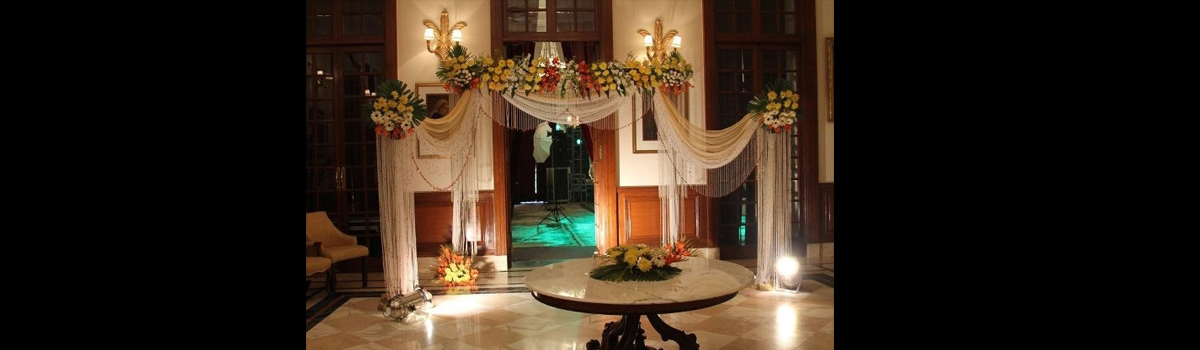 WEDDING DECORATION AT IMPERIAL HOTEL BY DCEC EVENTS CELEB MGMT CO